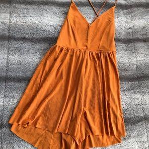 Orange Zara Romper